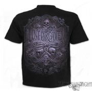 SPIRAL DIRECT Unforgiven Skull Black Gothic T-Shirt | Heavy Metal Clothing
